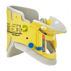 Cuello ortopédico pediatrico ajustable radio transparente, Ambu.