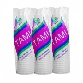 Paquete de vasos desechable de 7 onzas por 50 unidades, Producto nacional.