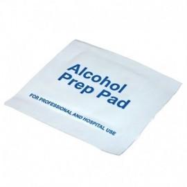 Paños alcoholizados o toallita impregnada de alcohol, por unidad.