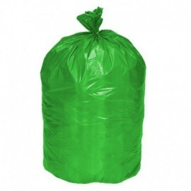 Bolsa verde para disposición de desechos o residuos ordinarios y/o inertes.