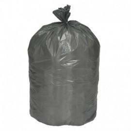 Bolsa gris para residuos reciclables.