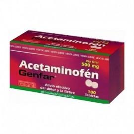 Acetaminofén tableta por 10 unidades, 500 mg.