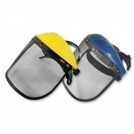 Careta de protección facial con malla metálica importada.
