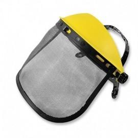 Careta de protección facial con malla metálica y refuerzo importada.
