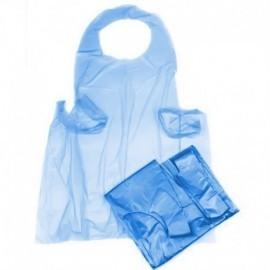 Delantal Desec, bolsa por 10 uds, tejido, azul, antifluidos.
