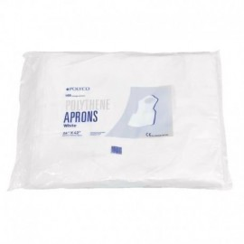 Delantal Desec, bolsa por 10 uds, tejida, blanco, LG 353, antifluidos.