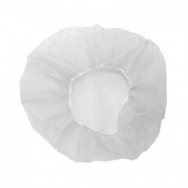 Gorros desechables bolsa por 100 uds, 53 cm, blanco.