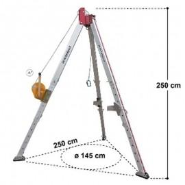 Trípode seguridad dispositivo recuperación 20 metros Alpen