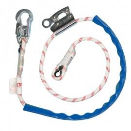 Eslinga de posición sencilla en cuerda con manostop Orbit.