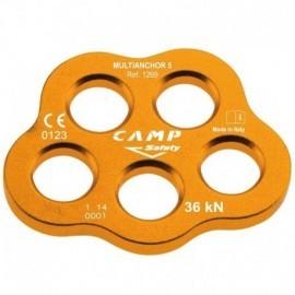 Multiplicador de anclaje de 5 orificios, 36 Kn, Camp Safety.