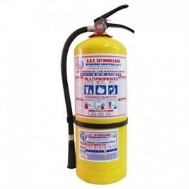 Extintor ABC multipropósito de 5 libras, producto nacional.