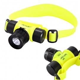 Linterna manos libres acuática o submarina, producto importado.