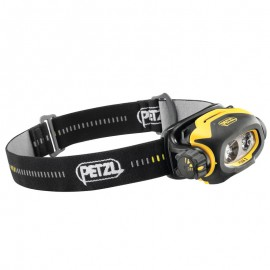 Linterna frontal adaptada a la visión cercana, de lejos y a los desplazamientos Pixa 3, Petzl.