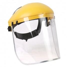 Careta para esmerilar con soporte ajustable, borde de aluminio.