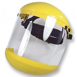 Careta para esmerilar con soporte ajustable y protector de barbilla.