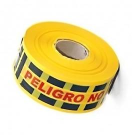 Cinta amarilla peligro - no pase, 100 mts. Producto nacional.
