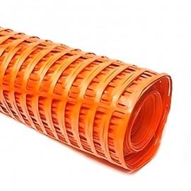 Malla naranja rollo 1 metro x 50 metros, Producto importado.
