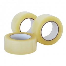 Cinta para empaque transparente por 100 metros, Producto importado.