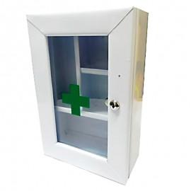 Botiquín gabinete metálico industrial de primeros auxilios, sin dotación, Health Solutions.