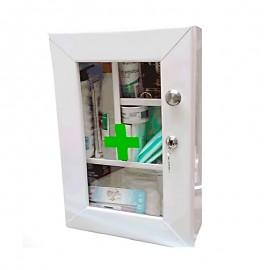 Botiquín gabinete metálico de primeros auxilios, sin dotación, Health Solutions.