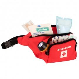 Botiquín tipo canguro de primeros auxilios, con dotación básica, Health Solutions.