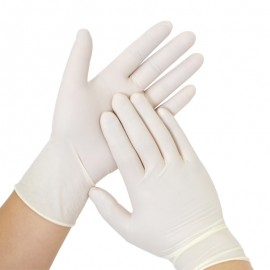 Par de guantes en látex, Producto importado.