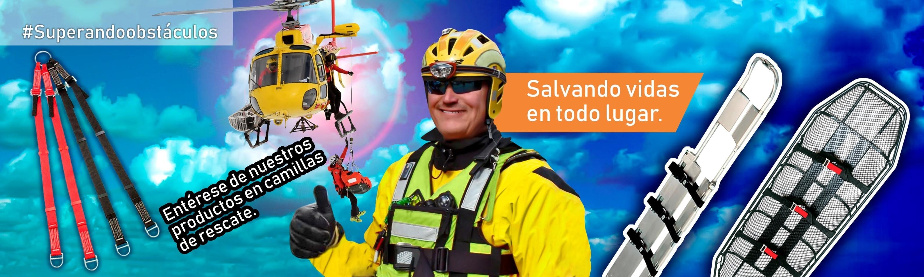 Para labores de rescate en todo lugar, los equipos aquí encontrará: Dotaalturas, protección a todo nivel.