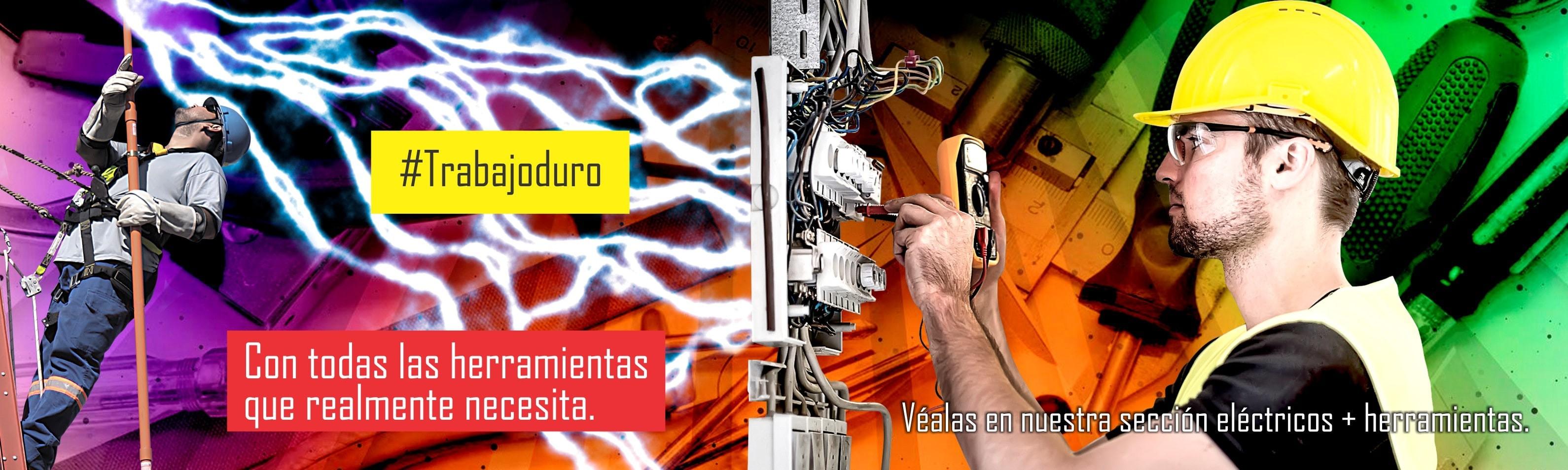 Todos los elementos para el electricista preparado.