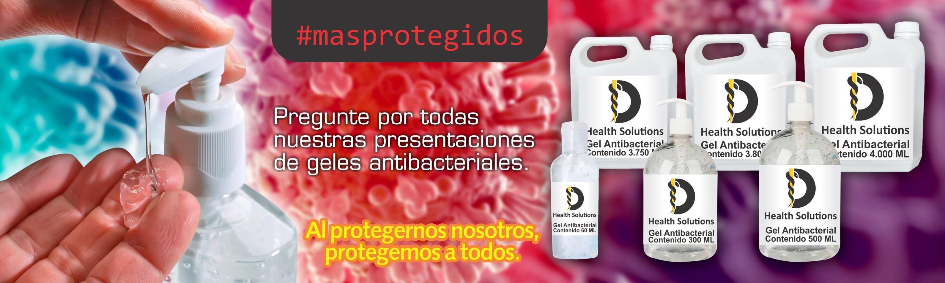 Venta de geles y jabones antibacteriales Helath Solutions contra COVID 19