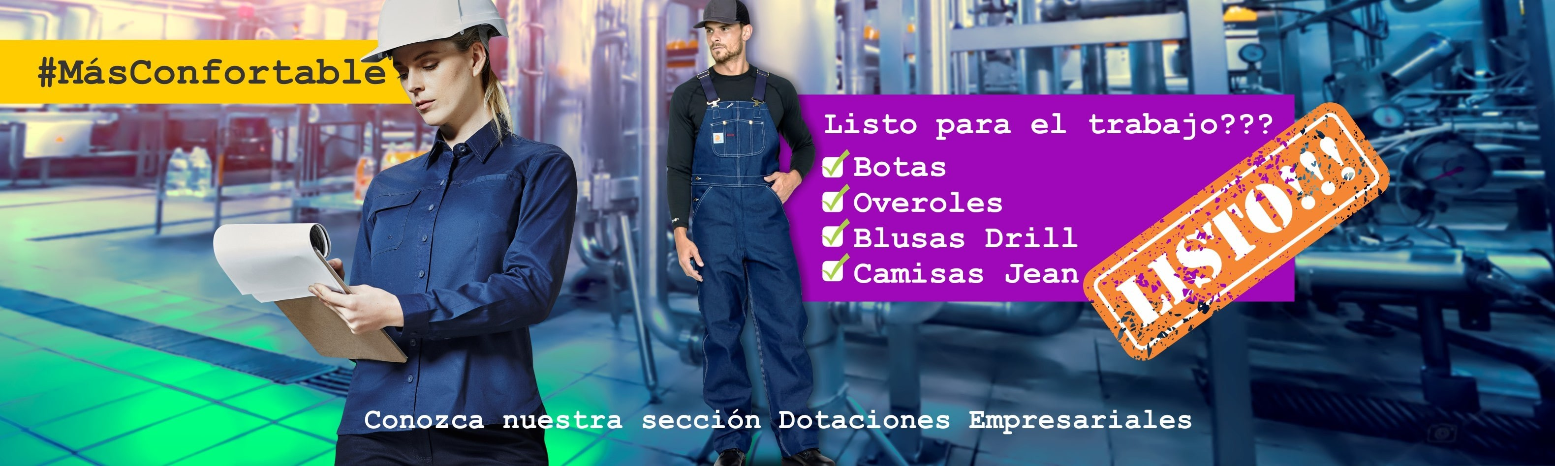 Todo en dotaciones industriales, aquí en Dotaalturas.