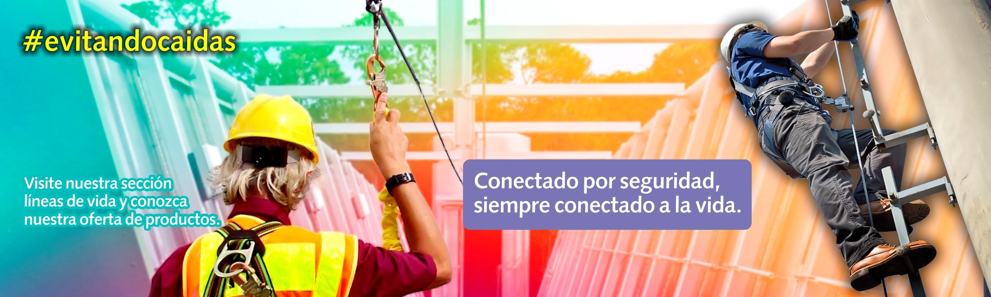 Líneas verticales y horizontales para trabajo seguro en alturas